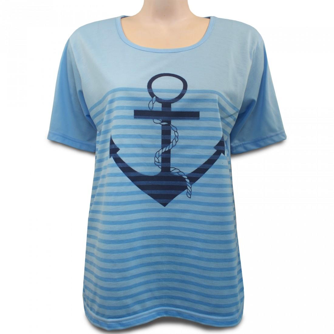 shirt mit anker druckmotiv in trendigen farben damen shirts t shirts. Black Bedroom Furniture Sets. Home Design Ideas